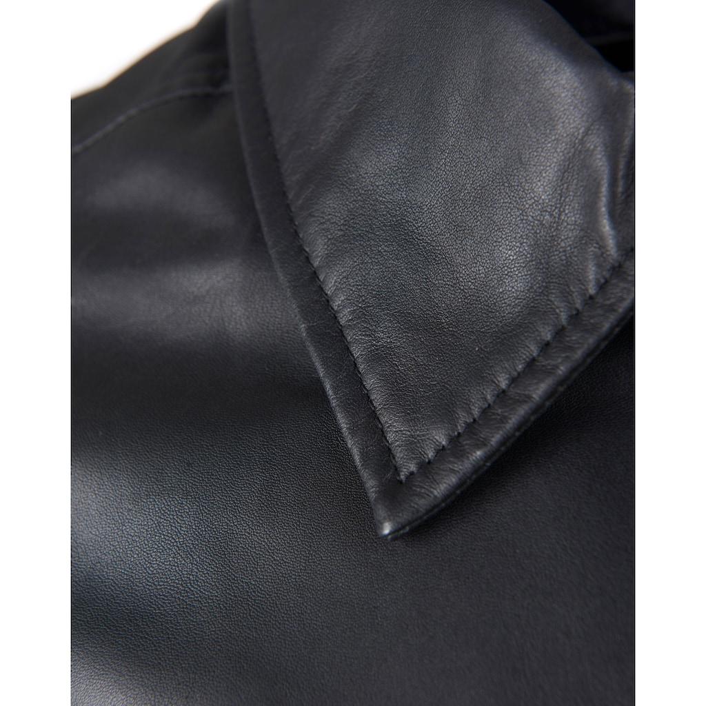 JCC Lederjacke mit klassischem Hemdkragen
