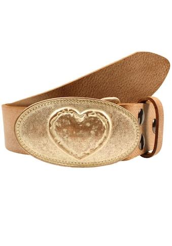 RETTUNGSRING by showroom 019° Koppelgürtel, Wechselgürtel, ovale Schließe mit Herz kaufen