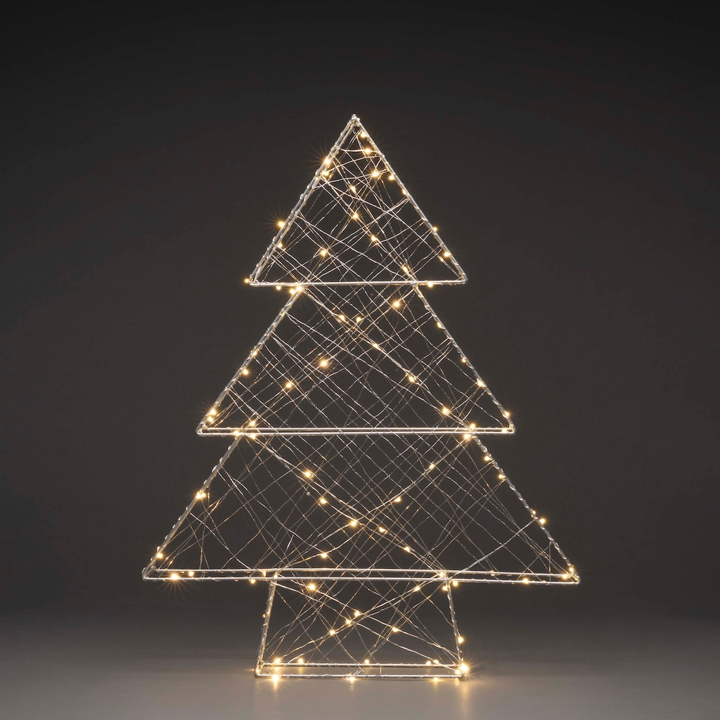 KONSTSMIDE LED Metallweihnachtsbaum, mit Draht umwickelt