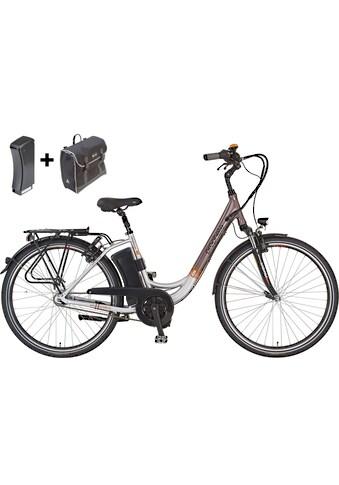 Prophete E-Bike »Navigator Pro«, 7 Gang, Shimano, Nexus, Mittelmotor 250 W, (Set, mit Ersatzakku-mit Seitentasche) kaufen