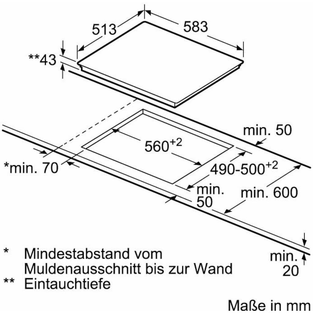 NEFF Elektro-Herd-Set »XED442A«, N 30 + N 50, E1ECD0JNO