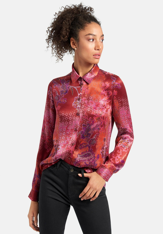 peter hahn -  Langarmbluse Bluse, mit Ziernähten