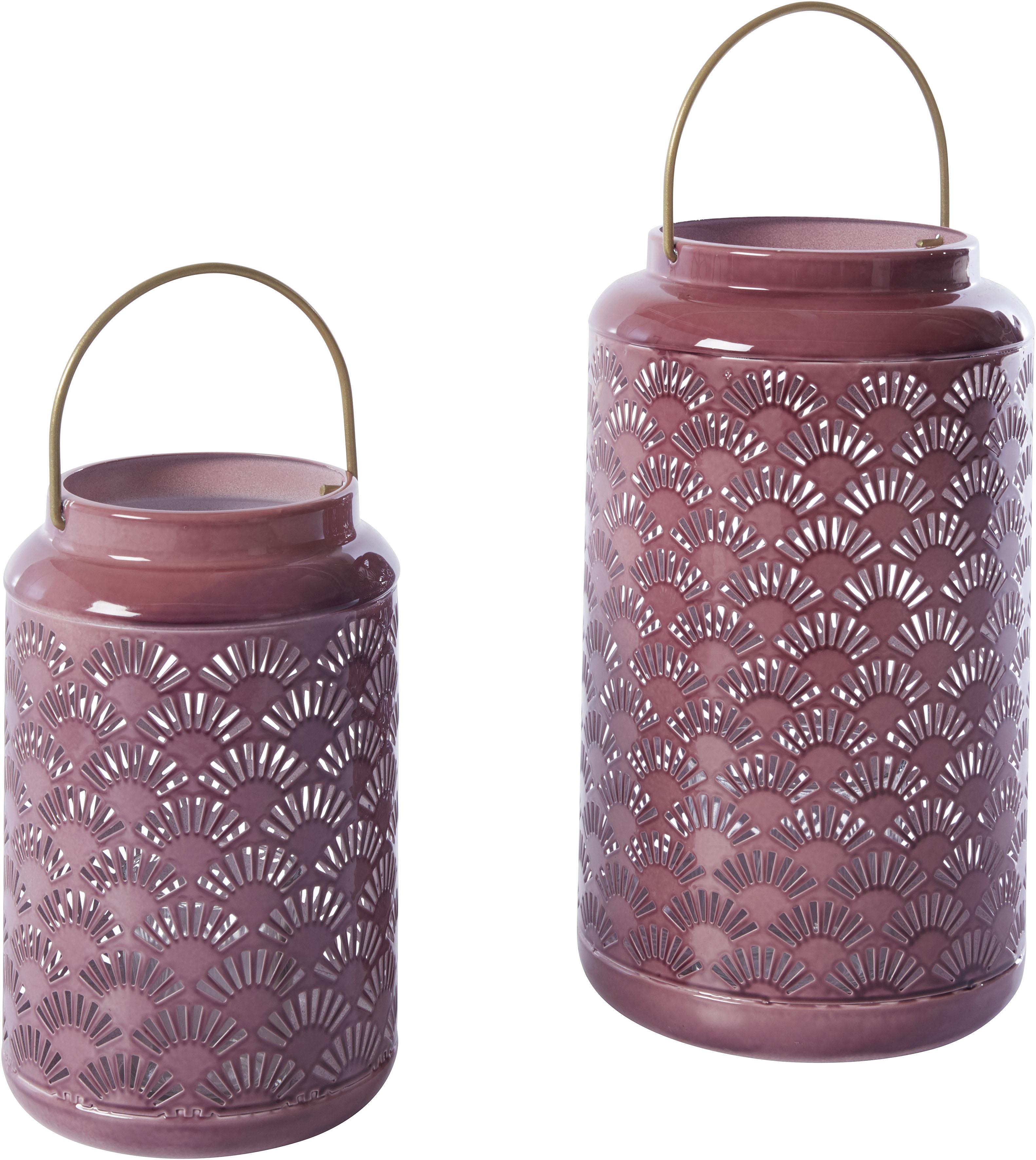 INOSIGN Kerzenlaterne lila Kerzenhalter Kerzen Laternen Wohnaccessoires