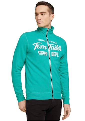TOM TAILOR Sweatjacke, mit Markenprint kaufen