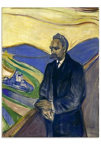 Artland Glasbild »Porträt von Friedrich Nietzsche. 1906«, Mann, (1 St.) kaufen
