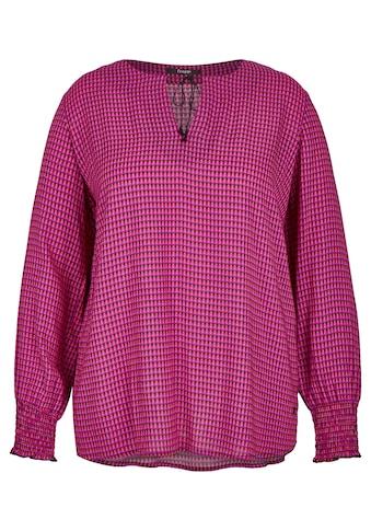 FRAPP Ausgefallene Bluse mit extrovertiertem Muster Plus Size kaufen