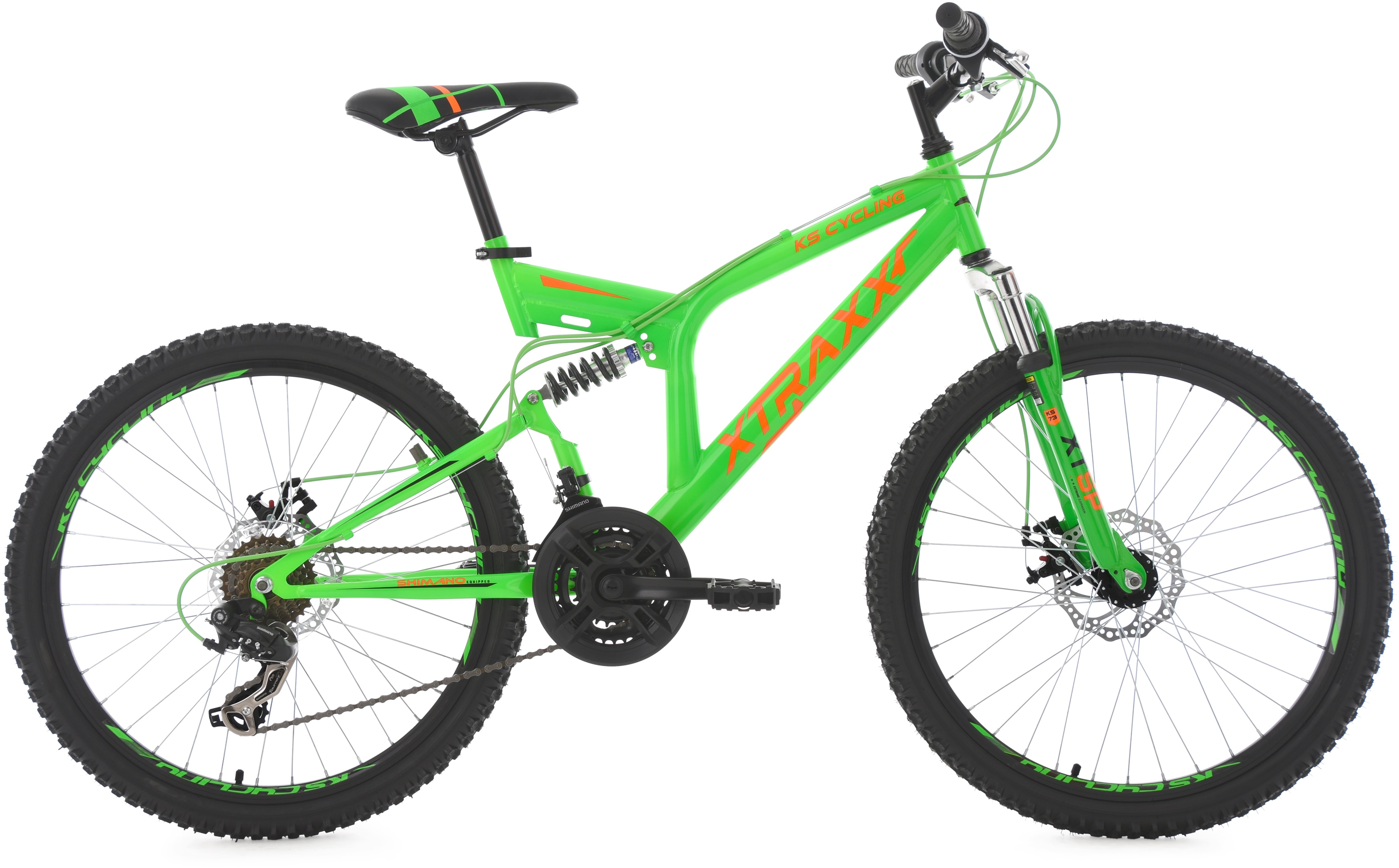 KS Cycling Jugendfahrrad XTRAXX, 21 Gang, Shimano, Tourney Schaltwerk, Kettenschaltung grün Kinder Kinderfahrräder Fahrräder Zubehör