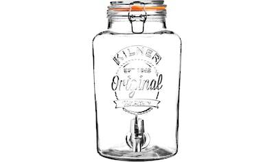 KILNER Getränkespender »ROUND«, für gekühlte Getränke mit leichtgängigem Zapfhahn, 5... kaufen