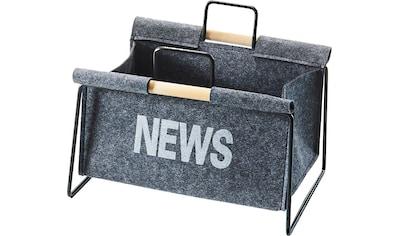 Home affaire Zeitungsständer »Zeitungsständer aus Metall, schwarz und Filz dunkelgrau« kaufen