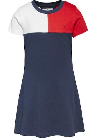 TOMMY HILFIGER Jerseykleid »STRIPE RIB DRESS S/S«, in Tommy Hilfiger Farbaufteilung kaufen