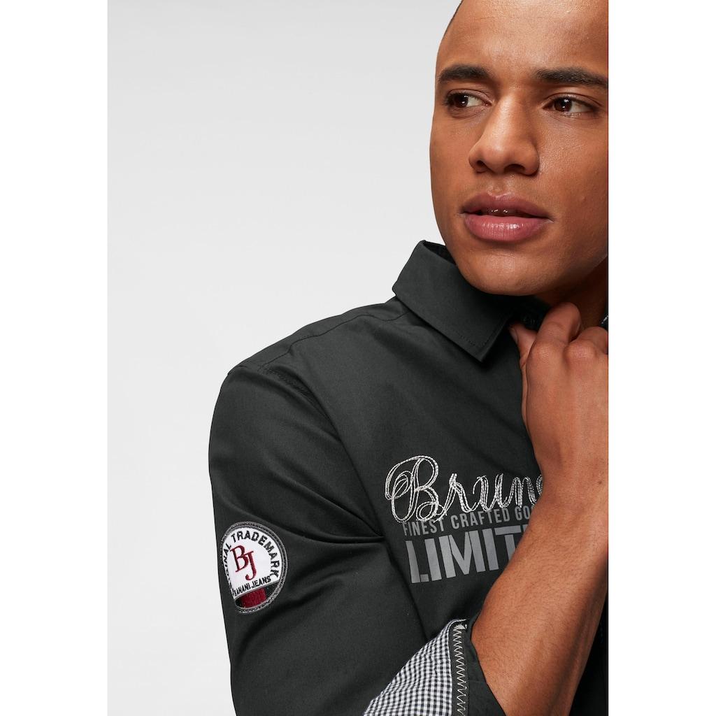Bruno Banani Langarmhemd, mit hochwertigen Stickereien