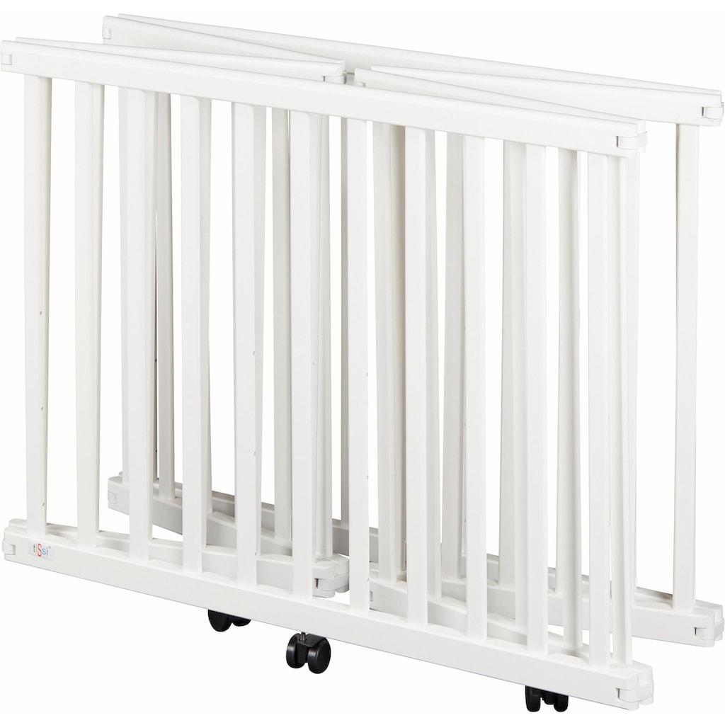 tiSsi® Laufgitter »weiß, 6-eckig«, bis 25 kg, zusammenklappbar; Made in Europe