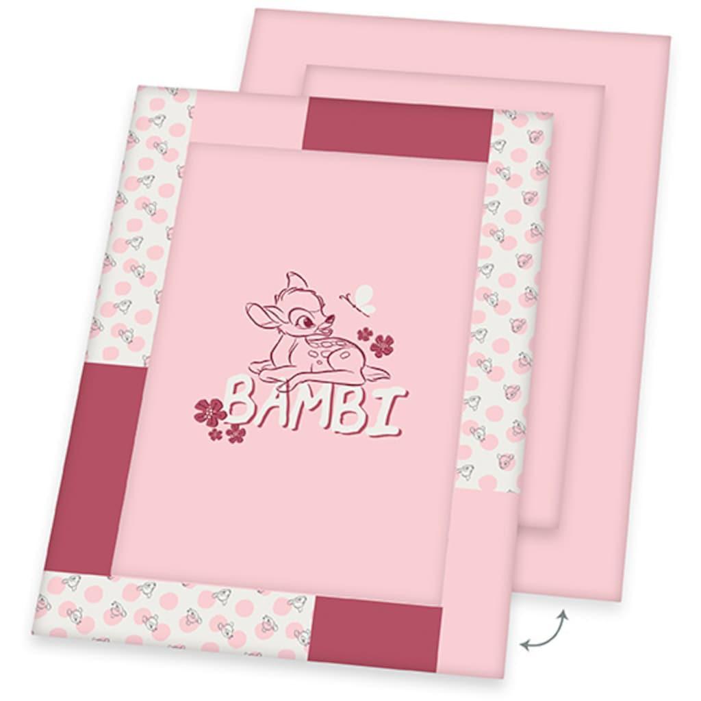 Herding Krabbeldecke »Disney`s Bambi, rosa«, mit Schriftzug