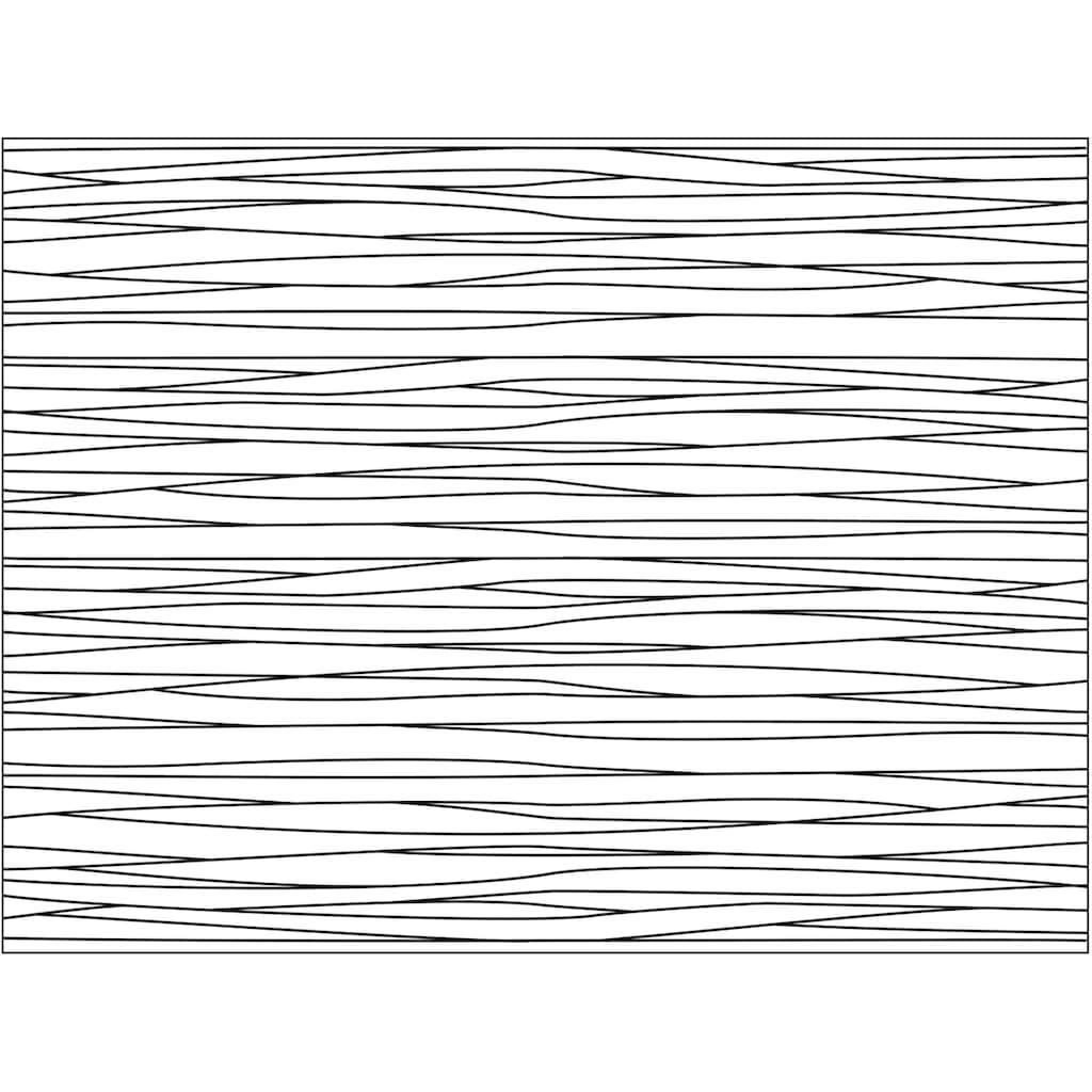 Contento Platzset »Matteo«, (Set, 4 St.), für den Innen- und Außenbereich, wasserabweisend, Linienmuster, 30x40 cm