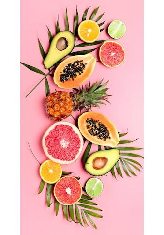 good morning Strandtuch »Pink Fruits«, (1 St.), mit tropischen Früchten kaufen