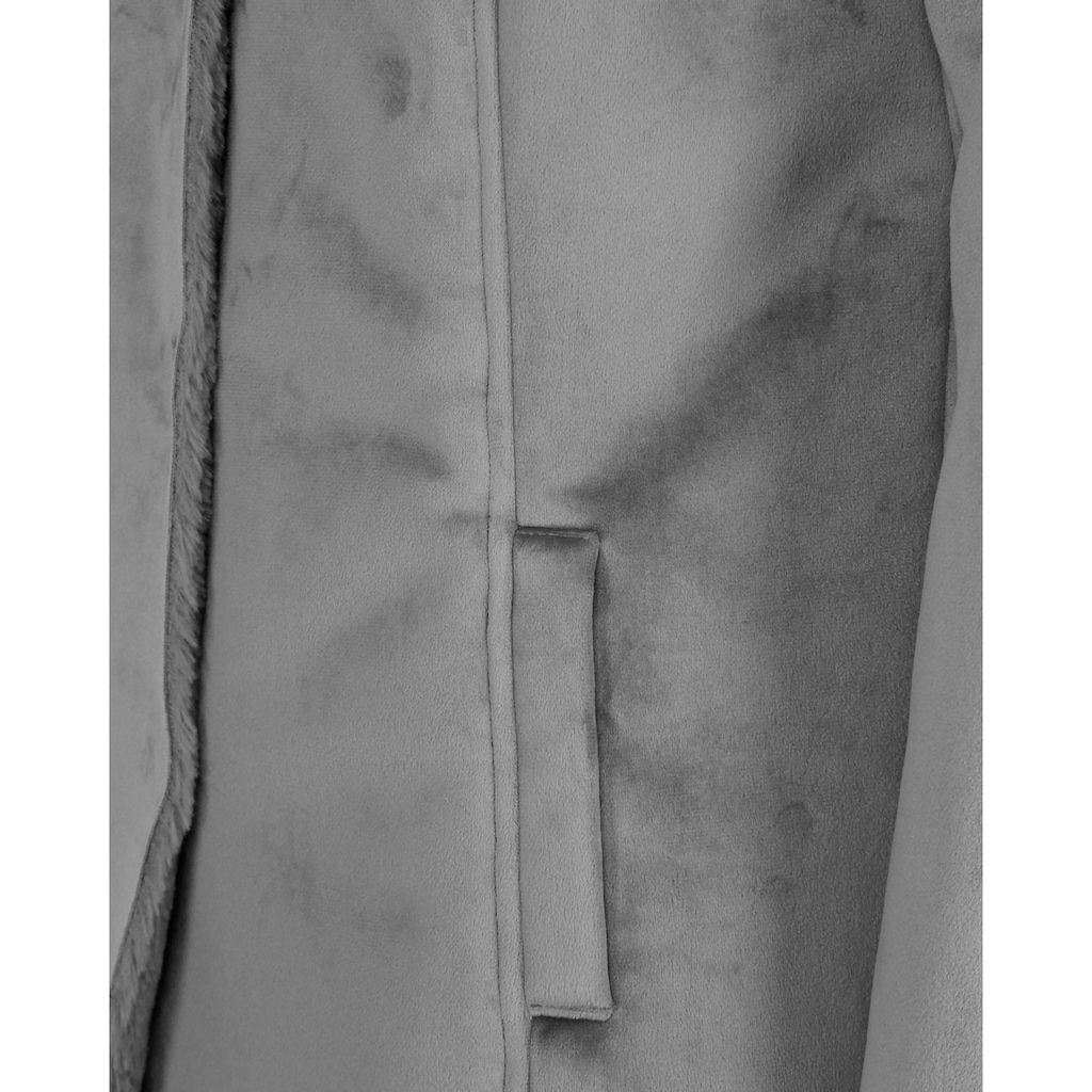 JCC Fellimitatmantel »310192791«, mit kuscheligem Kunstfell
