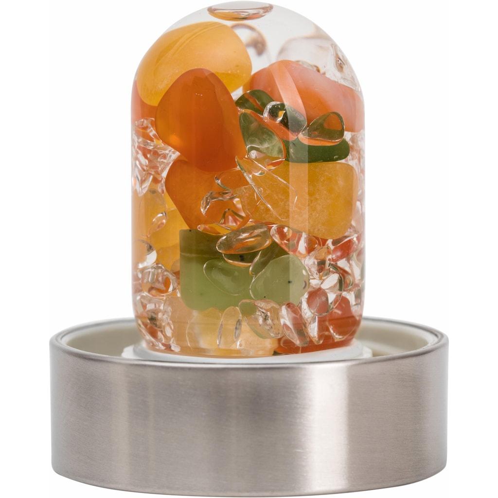 VitaJuwel Wasserkaraffe »Edelsteinflasche ViA Happiness«, (Jade (Nephrit) - Karneol - Orangenchalcit - Bergkristall)