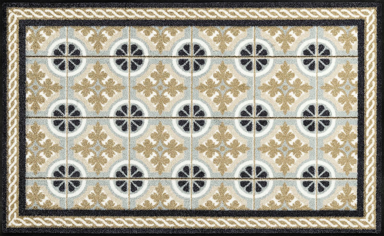 Teppich Kitchen Tiles wash+dry by Kleen-Tex rechteckig Höhe 7 mm gedruckt