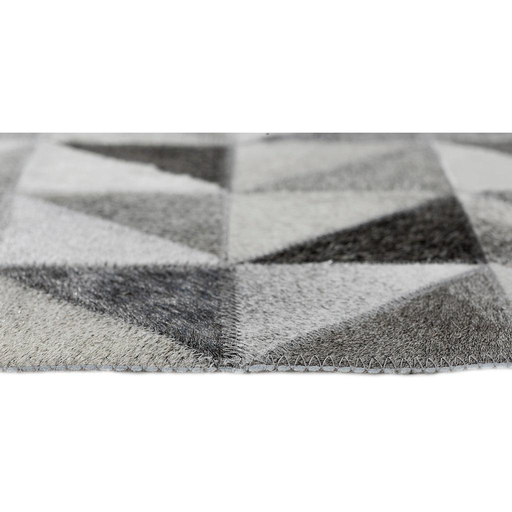 LUXOR living Fellteppich »Rio De Janeiro«, rechteckig, 4 mm Höhe, Patchwork, handgenäht, echtes Rinderfell, Wohnzimmer
