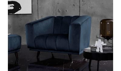 INOSIGN Sessel »Rimini«, mit ungewöhnlicher Steppung in modernem Design kaufen