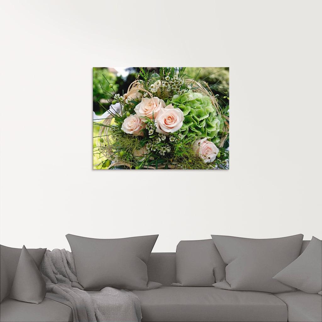 Artland Glasbild »Blumenstrauss«, Blumen, (1 St.)