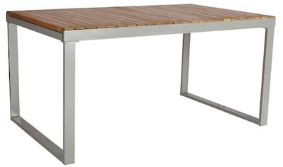 MERXX Gartentisch »Monaco«, Alu/Akazienholz, ausziehbar, 200x90 cm, braun kaufen