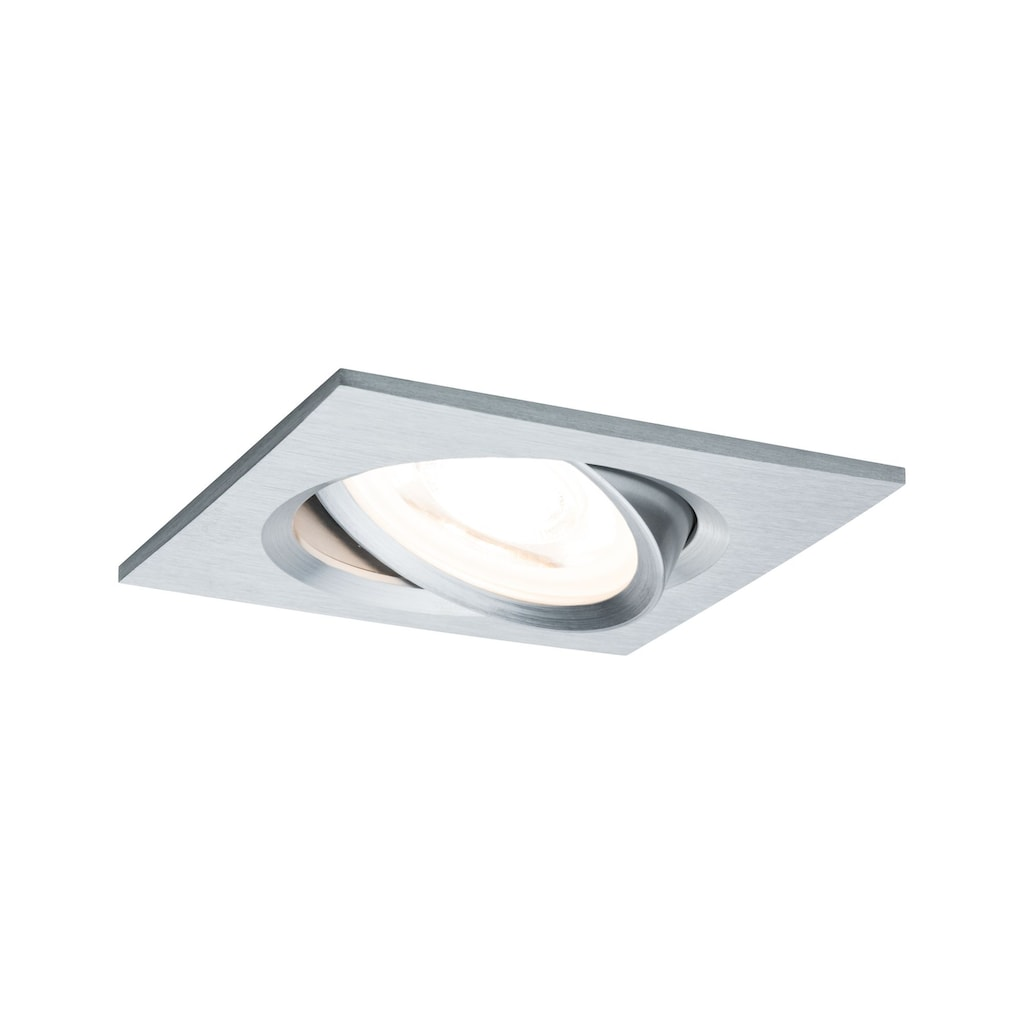 Paulmann LED Einbaustrahler »Nova eckig 1x6,5W GU10 Alu gedreht schwenkbar 3-Stufen-dimmbar«, GU10