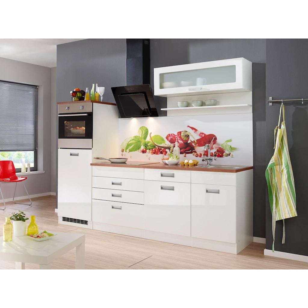 HELD MÖBEL Küchenzeile »Fulda«, ohne E-Geräte, Breite 240 cm