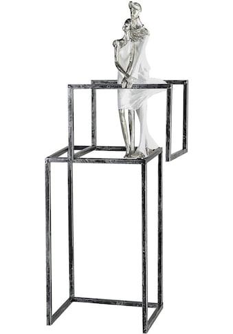 GILDE Dekofigur »Skulptur Love Construction, weiß/silberfarben«, Dekoobjekt, Höhe 59,... kaufen