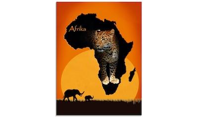 Artland Glasbild »Afrika der schwarze Kontinent«, Wildtiere, (1 St.) kaufen