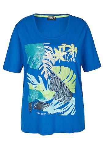 VIA APPIA DUE Extrovertiertes T - Shirt mit Pailletten kaufen