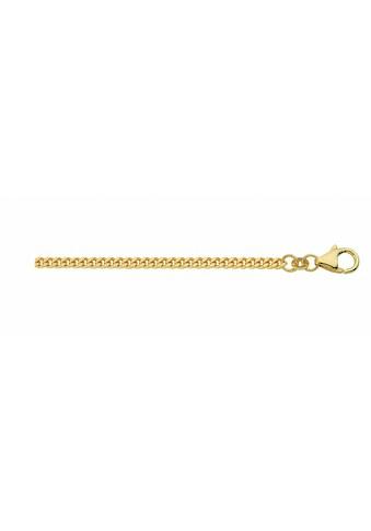 Adelia´s Goldkette »585 Gold Flach Panzer Halskette«, 585 Gold Flach Panzerkette Goldschmuck für Damen kaufen