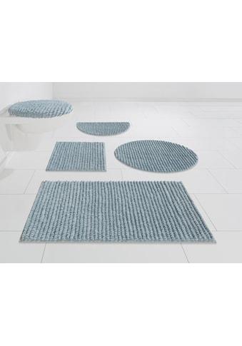 andas Badematte »Renat«, Höhe 15 mm, Badteppich, Badgarnitur, Badezimmerteppich in Pastell, waschbar, geeignet für Fußbodenheizung, schnell trocknend kaufen