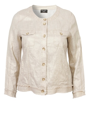 VIA APPIA DUE Schimmernde Jacke im Used - Look kaufen