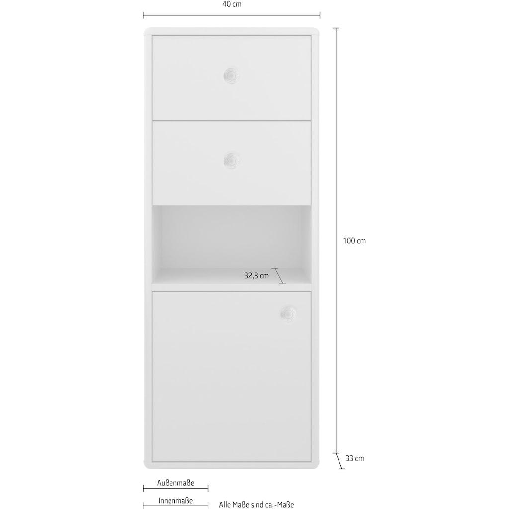 TOM TAILOR Aktenschrank »COLOR OFFICE«, mit 1 Tür & 2 Schubladen, mit Push-to-Open, Breite 40 cm