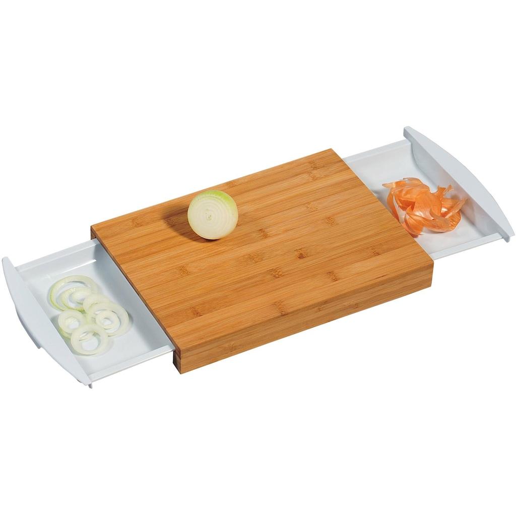 KESPER for kitchen & home Schneidebrett, mit 2 Auffangschalen