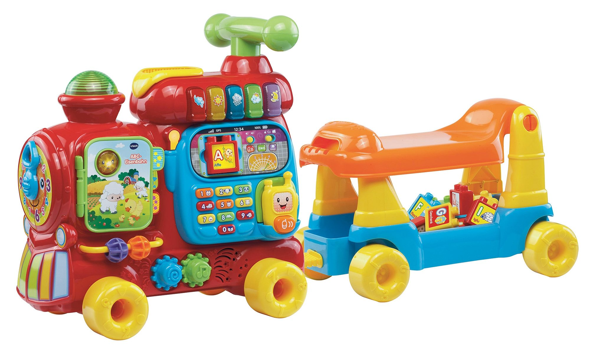 VTech Lernspielzeug 15-tlg ABC-Eisenbahn Kindermode/Spielzeug/Lernspielzeug/Lernspiele
