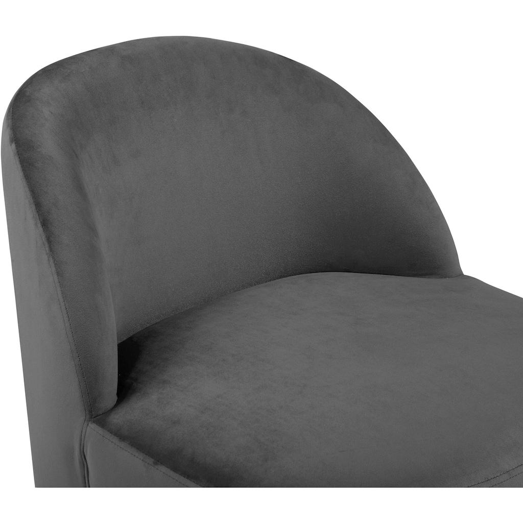 andas Loungesessel »Dianalund«, aus weichem Samtvelours Bezug, in unterschiedlichen Farbvarianten, Cocktailsessel Design by Morten Georgsen