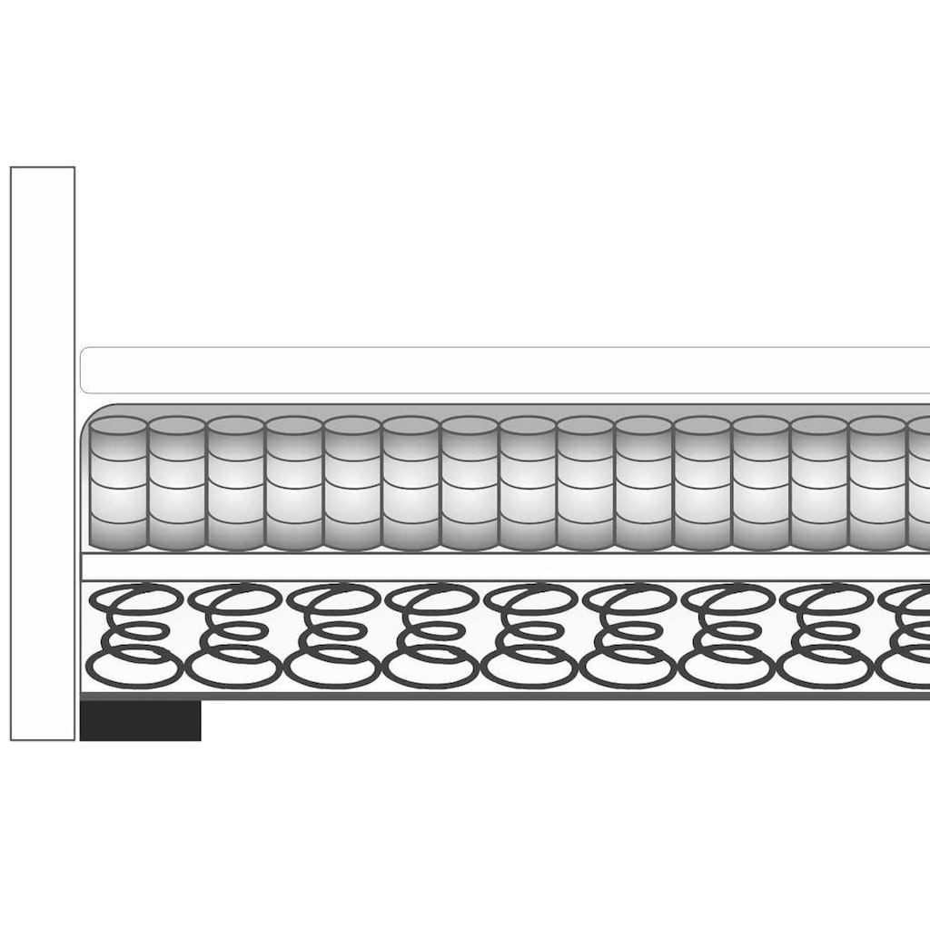 Breckle Boxspringbett, ohne Kopfeil, inkl. Topper