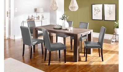 Home affaire Essgruppe »Silje«, (Set, 7 tlg.), bestehend aus 6 Lucca Stühlen und dem Maggie Esstisch kaufen