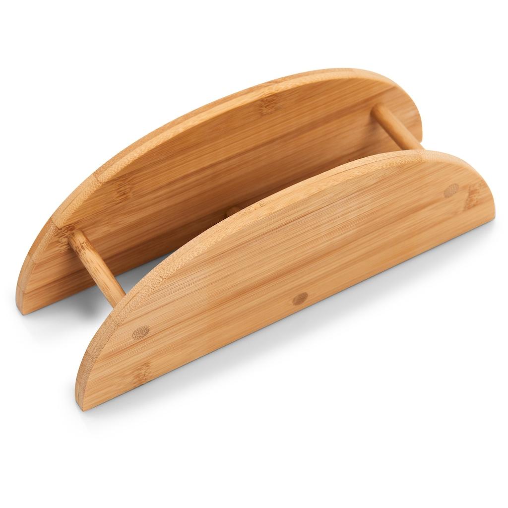 Zeller Present Frühstücksbrett »Bamboo«, (Set, 7 St.), oval