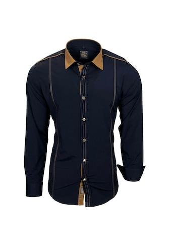 Rusty Neal Freizeit - Hemd mit farblich abgesetztem Kragen kaufen