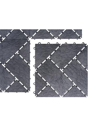 UPP Terrassenplatten, Kunststoff in Schieferpoptik, 6 Platten kaufen