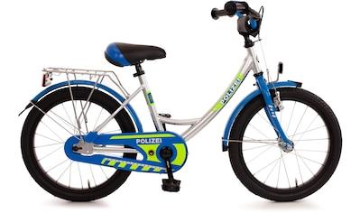 """Bachtenkirch Kinderfahrrad »Kinderfahrrad """"Polizei"""", blau/silber/neon-gelb« kaufen"""