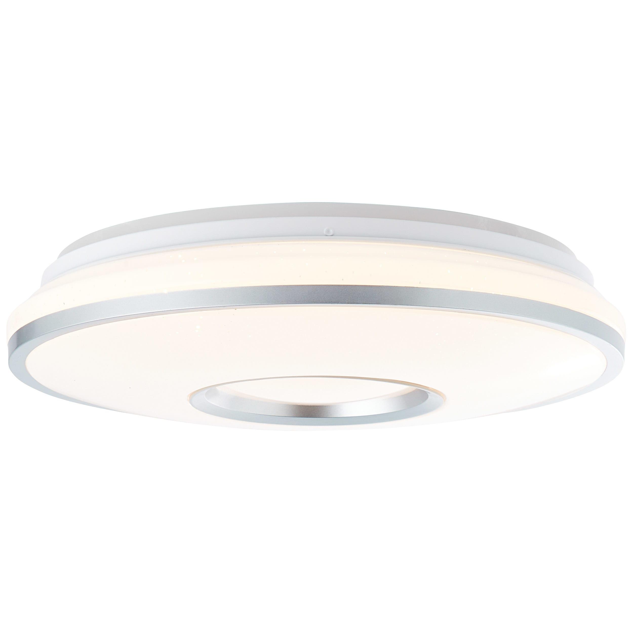 Brilliant Leuchten Visitation LED Deckenleuchte 39cm weiß-silber
