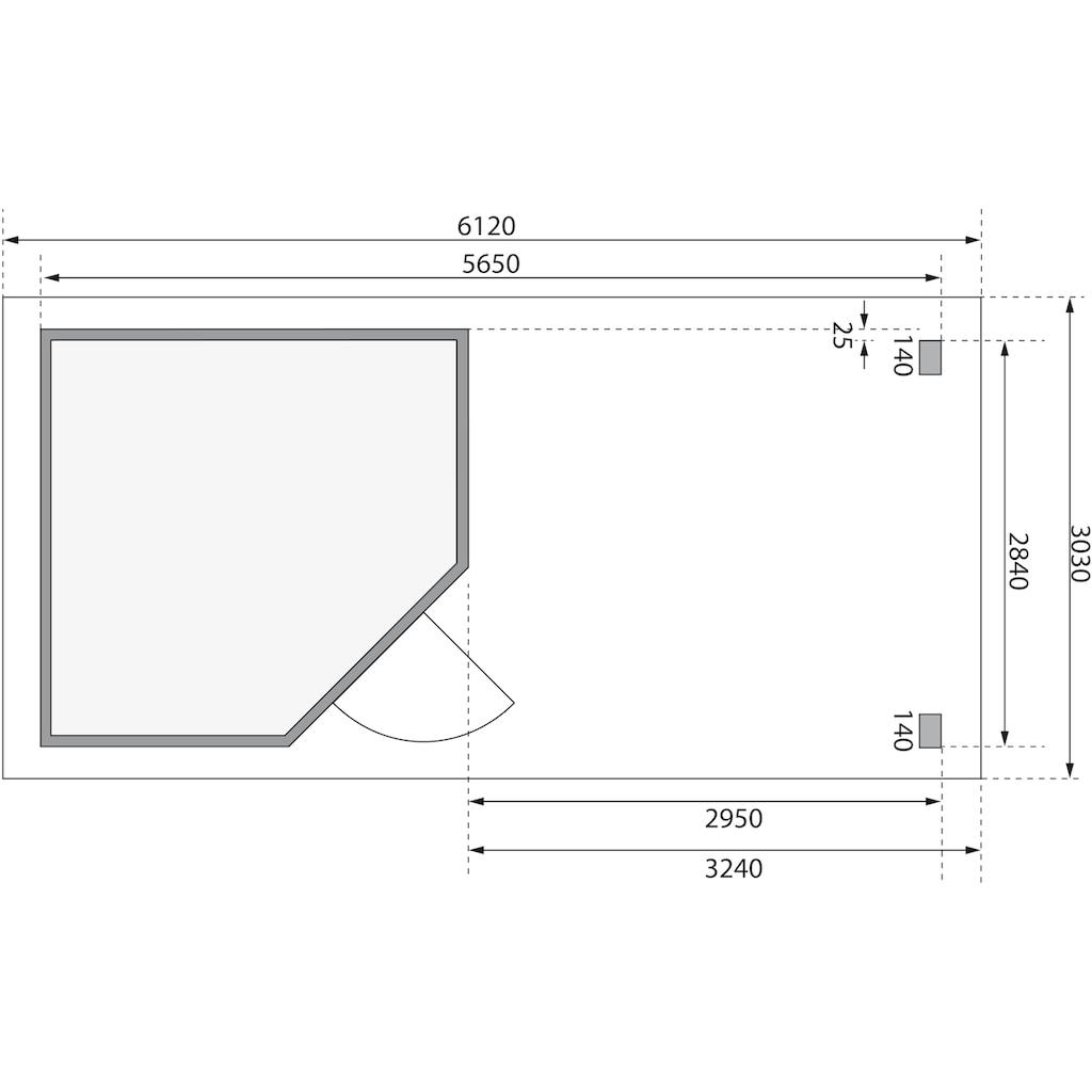 WOODFEELING Set: Gartenhaus »Neuruppin 3«, BxT: 612x303 cm