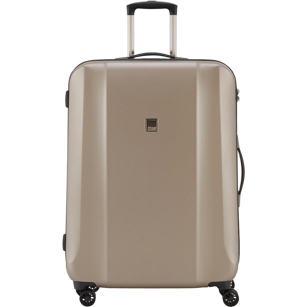 TITAN® Hartschalen-Trolley »Xenon Deluxe, 74 cm, Champagne«, 4 Rollen