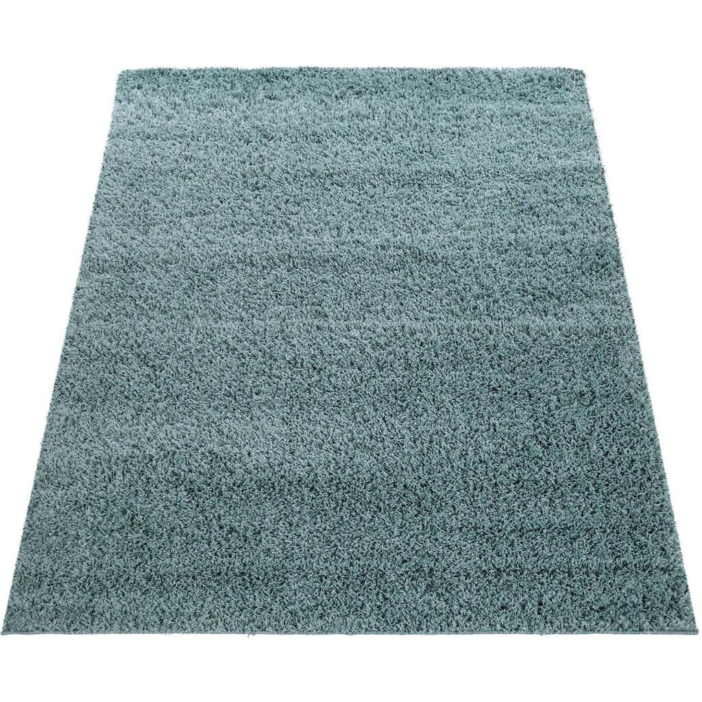 Paco Home Hochflor-Teppich »Twister 500«, rechteckig, 45 mm Höhe, Uni Hochflor Shaggy mit hoher Fadendichte, Wohnzimmer
