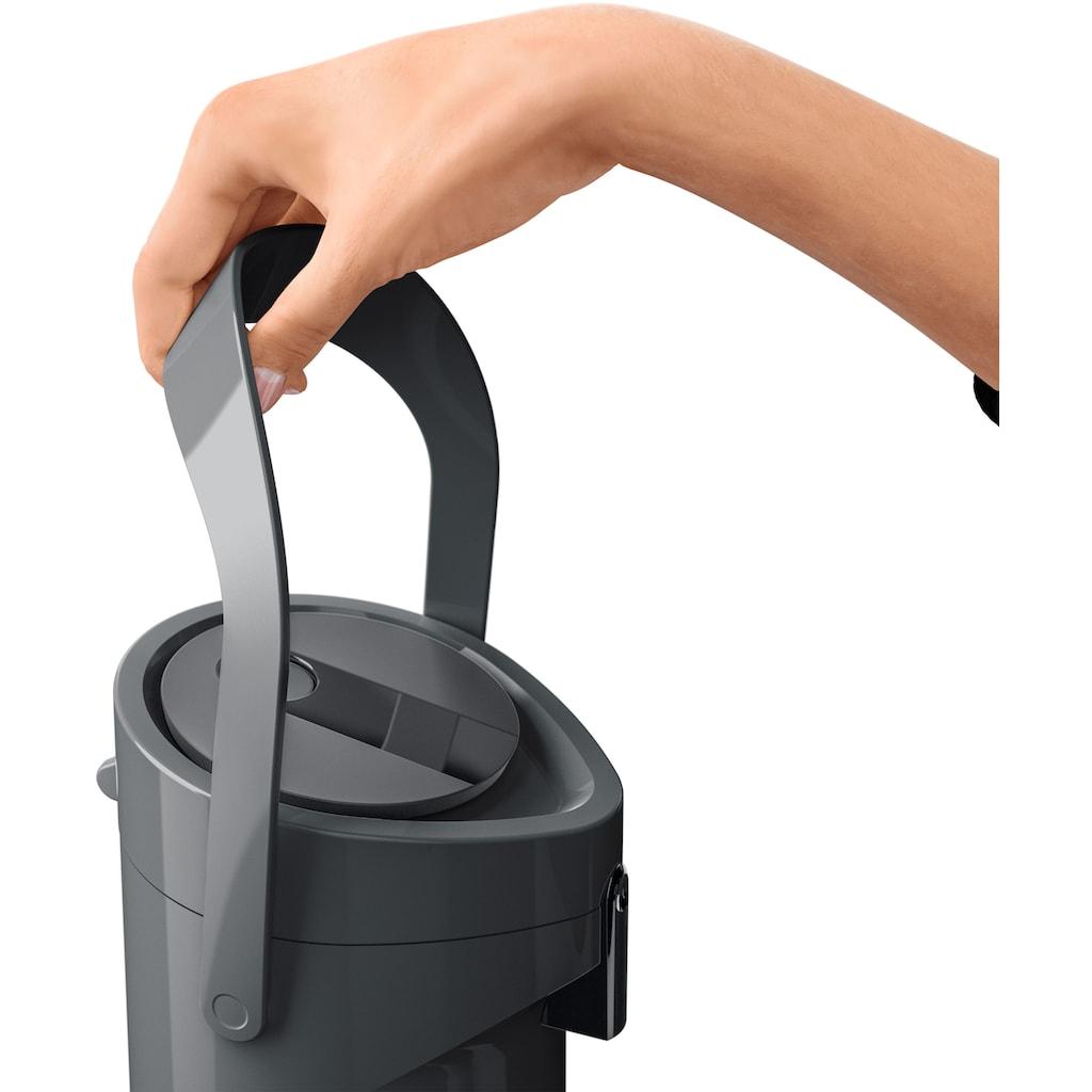 Emsa Pump-Isolierkanne »Ponza Pump«, 1,9 l, hält heiße Getränke 12 Stunden heiß, kalte 24 Stunden kalt