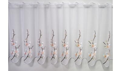 Stickereien Plauen Scheibengardine »Kirschblüte« kaufen